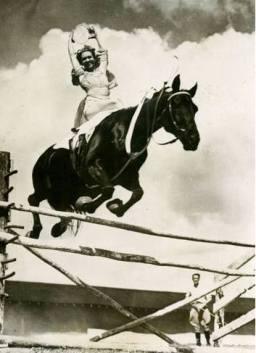 Dorothy Herbert jumping