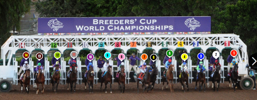 Here's the start of the Breeders' Cup