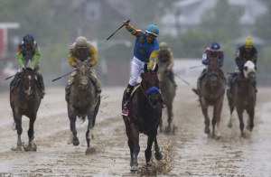 Most interesting thing about the photo? American Pharaoh and Victor Espinoza are clean!