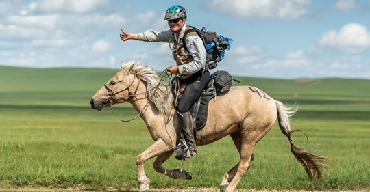 Robert Long wins Mongol Derby
