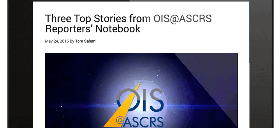 ois.net: Three top stories from OIS@ASCRS Reporters' Notebook