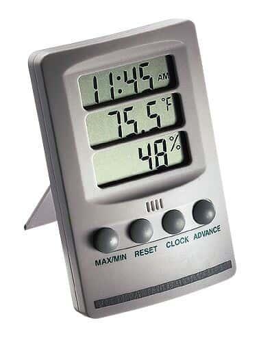 Termohigómetro con Reloj Extech Image