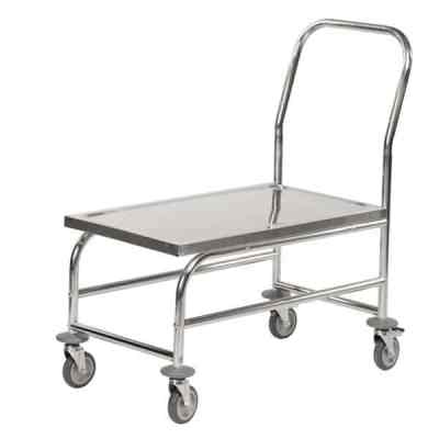 Chariot de manutention inox 1 plateau