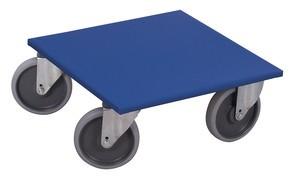 Plateau roulant roue caoutchouc