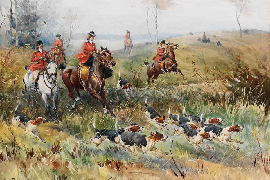 hunting painting