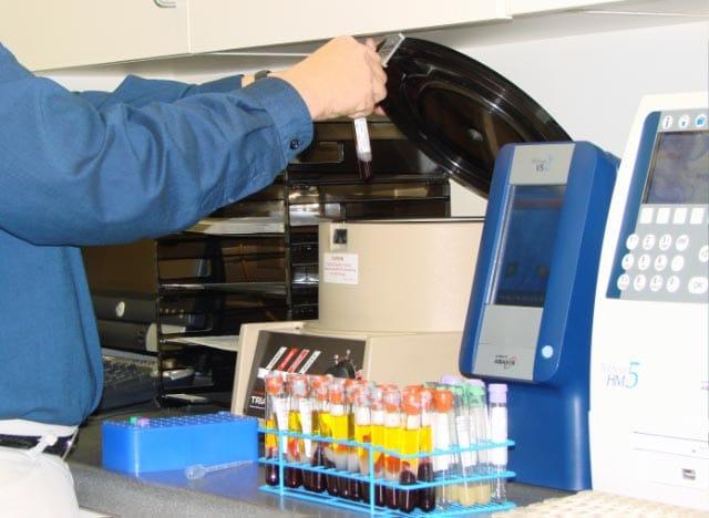 lab testing set up