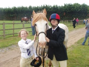 ginny the cob at a show
