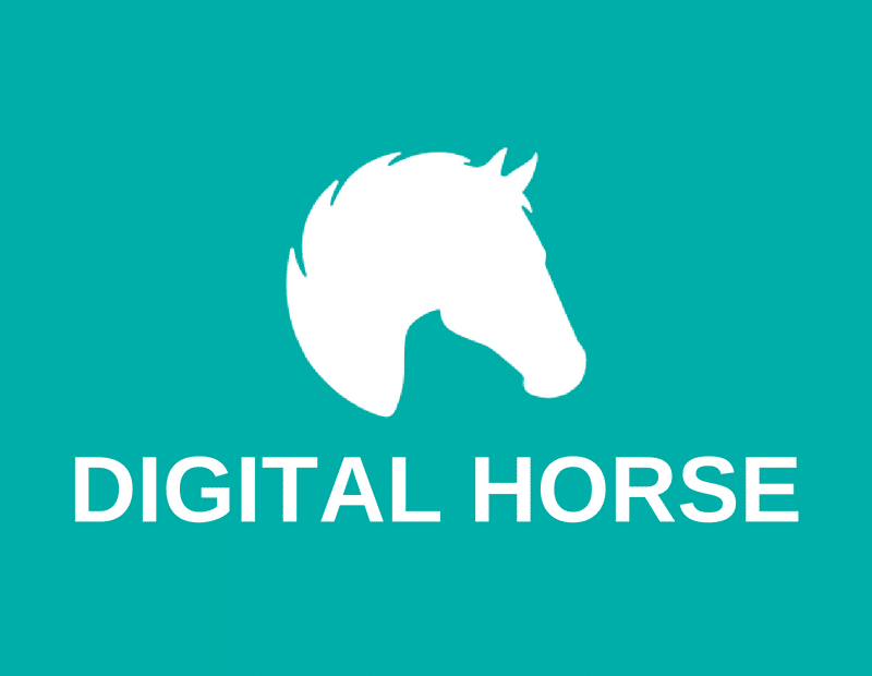 digital horse logo