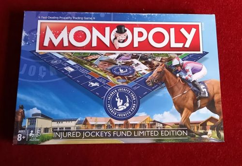 injured jockeys horse themed board game