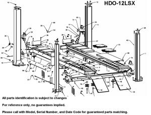 Parts Diagram for Bend Pak HD12LSX