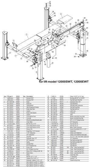 Parts Diagram for Forward 12000EWT 12000SWT