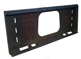 Thor Heavy Duty Skid Steer Quick Tach Receiver Plate THOR RECSTD