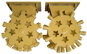 Compaction Wheels for skid steers, backhoes and excavators.