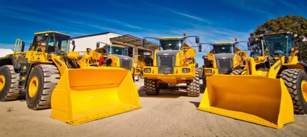 earthmoving machinery for rent