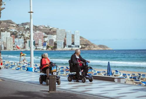 medical patients on holiday with rented medical equipment