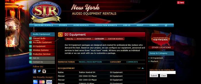 5 best dj equipment rental new york companies equipment rental. Black Bedroom Furniture Sets. Home Design Ideas