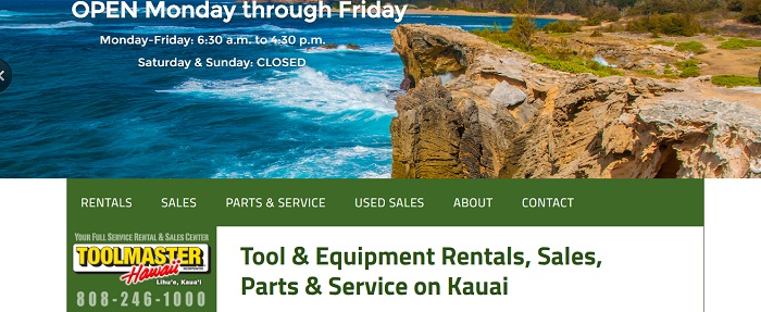 construction equipment rental hawaii toolmaster