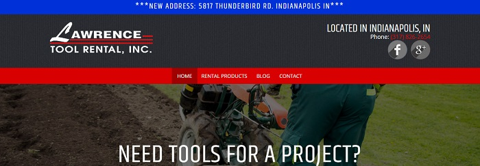 construction equipment rental indiana lawrence tool rental