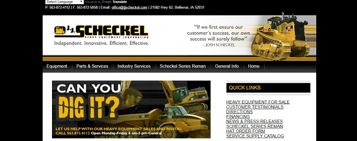 construction equipment rental iowa JJ Scheckel