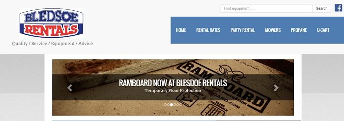 construction equipment rental kansas bledsoe rentals