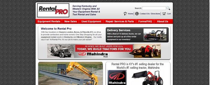 construction equipment rental kentucky rental pro