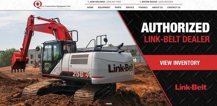 quest construction equipment website