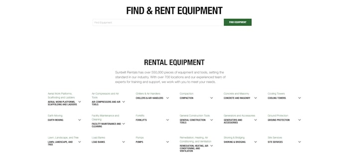 sunbelt rentals website