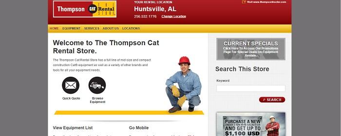 construction equipment rental alabama thompson cat rental