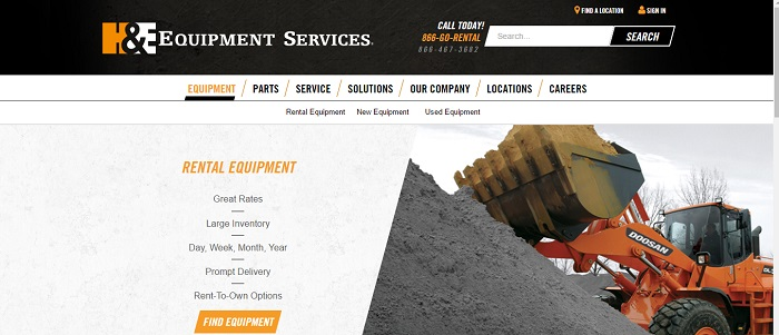 H&Equipment Services rental equipment
