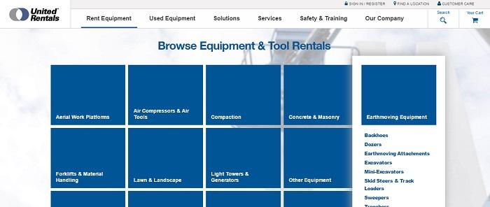 earthmoving equipment rental florida