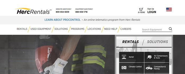 construction equipment rental illinois herc rentals homepage