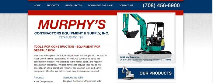 construction equipment rental illinois murphy's homepage