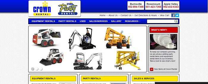 construction equipment rental burnsville