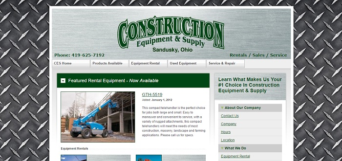 construction equipment rental Ohio