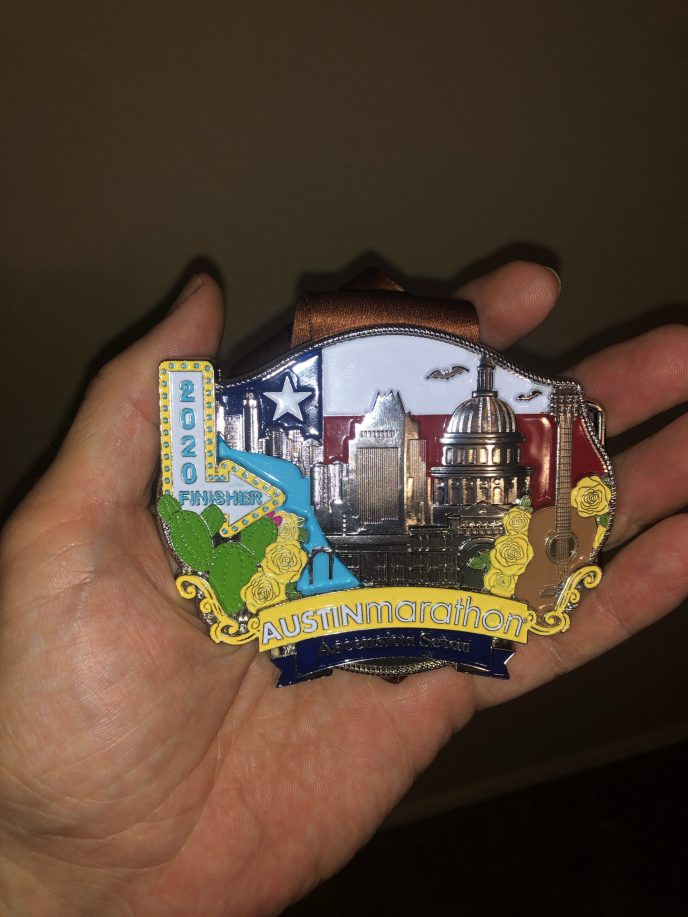 Austin Marathon 2020 Finisher Medal