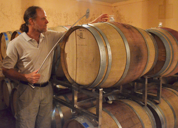 Jim Law in the cellar
