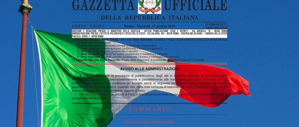 bandiera italiana cura italia 600 euro