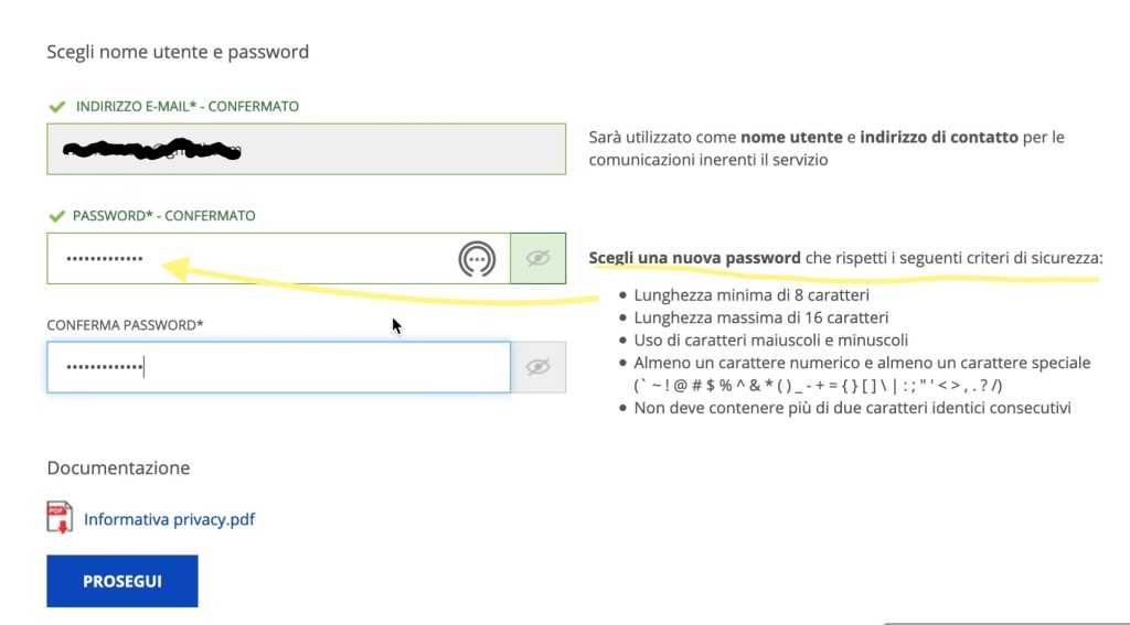 password spid poste
