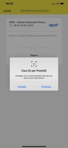 smartphone autorizza con face ID
