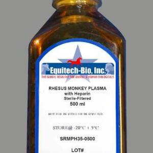 SRMPH35 -- Sterile Filtered Rhesus Monkey Plasma with Heparin