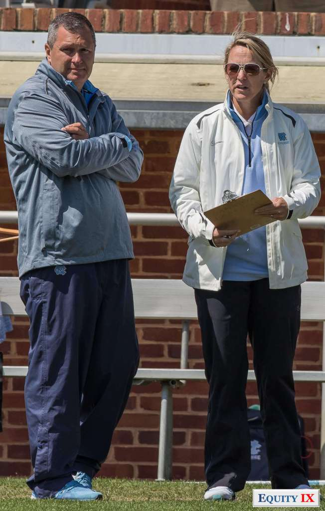 UNC Head Coach - Jenny Levy / UNC Assistant Coach - Phil Barnes - ACC Women's Lacrosse © Equity IX - SportsOgram - Leigh Ernst Friestedt