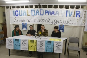 Elena Monzón, Vaneska Zamora, Carlos Montero y Esther Antón en la rueda de prensa de ayer (foto: Pablo Segura)