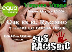 Viernes Verde – Qué es el racismo y cómo lo combatimos. 28 de diciembre a las 20:00h