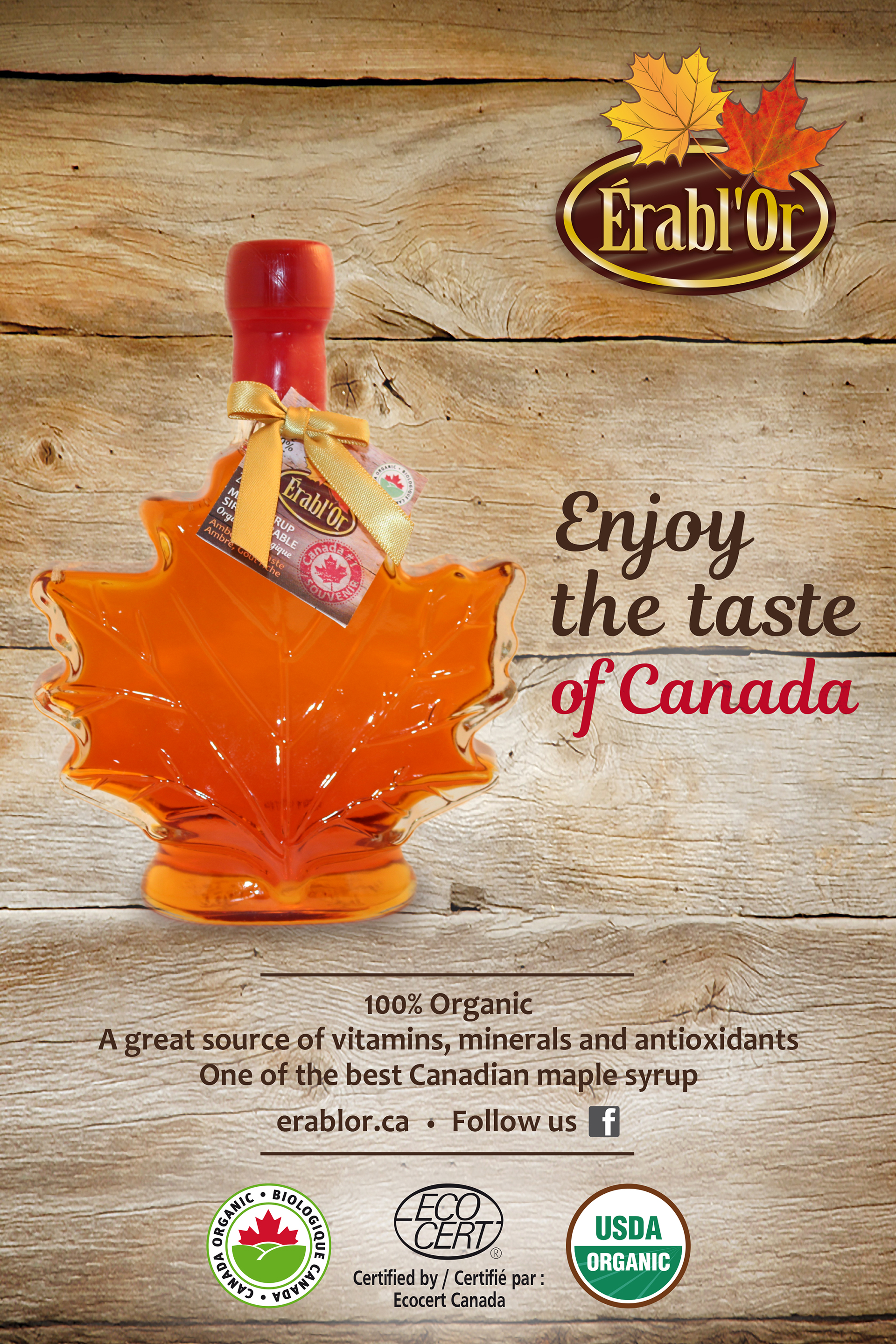 Enjoy the taditional taste of Canada