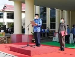 Bupati Bolmut Pimpin Apel Korpri di Lingkungan Pemkab Kabupaten Bolmut