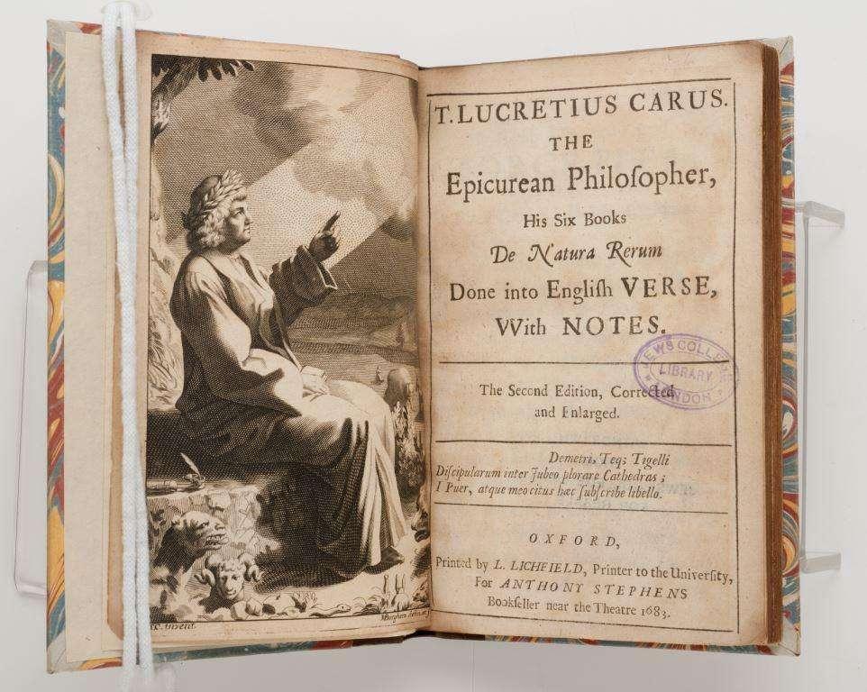 """Ο Τίτος Λουκρήτιος Κάρος (λατινικά Titus Lucretius Carus) γεννήθηκε περίπου στα 98-94 π.Χ. και πέθανε γύρω στα 55-53 π.Χ. Ήταν Ρωμαίος ποιητής και φιλόσοφος. Το μόνο γνωστό του έργο είναι το εκτενές φιλοσοφικό ποίημα De Rerum Natura ,(""""Περί της φύσεως των πραγμάτων""""), 7.415 στίχων με επικούρεια θεματολογία."""