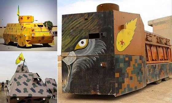 Αυτοσχέδιες κατασκευές αλά... Mad Max των Κούρδων για την αντιμετώπιση του I.S.I.S.