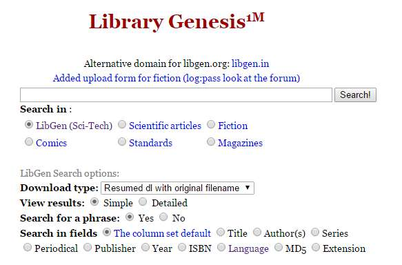 Library Genesis: κατεβάστε δωρεάν χιλιάδες ελληνικά και ξένα βιβλία!