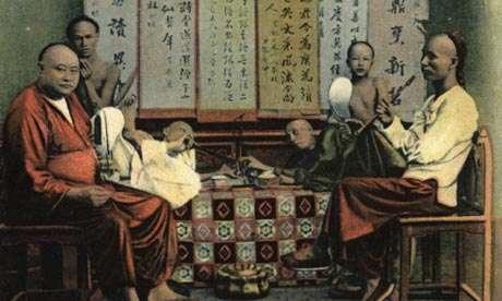 Ομάδα νεαρών κινέζων χρηστών οπίου.