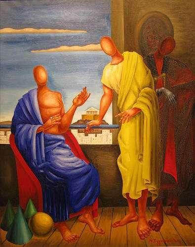 Εγγονόπουλος – Σωκράτης και Πλάτων